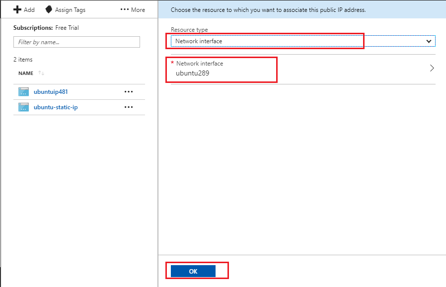 How-to-associate-static-IP-to-Network-Interface-in-Azure-step-4