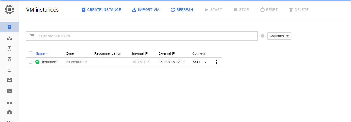 How to SSH in your instance in Google Cloud